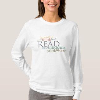 Camiseta Leído, la búsqueda, se imagina