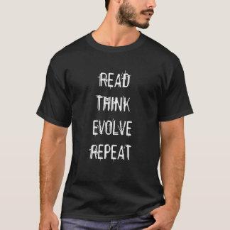 Camiseta Leído piense desarrollan la repetición T