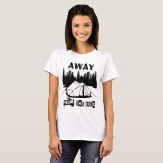 Camiseta Lejos de acampar de la ciudad