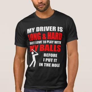 Camiseta Lema hilarante del golf
