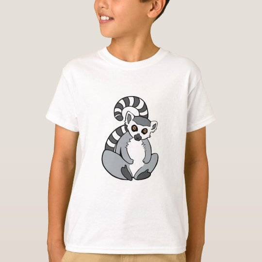 Camiseta Lemur Anillo-Atado sentada linda