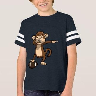 Camiseta Lenguado del fútbol del mono que frota
