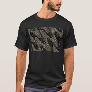 Camiseta Lentejuela ondulada negra y blanca