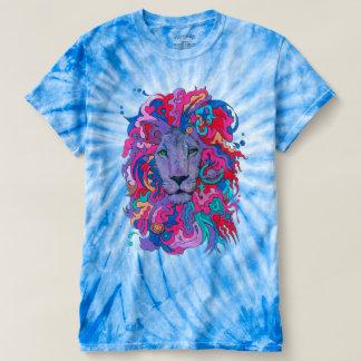 Camiseta León púrpura psicodélico