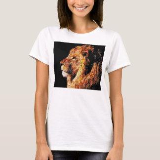 Camiseta León salvaje - collage del león - mosaico del león