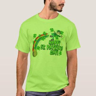 Camiseta Leprechaun feliz del día del St Patricks