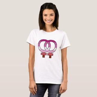 Camiseta lesbiana del símbolo de Venus de la