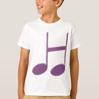 """Camiseta Letra inglesa """"H"""" creada de notas musicales"""