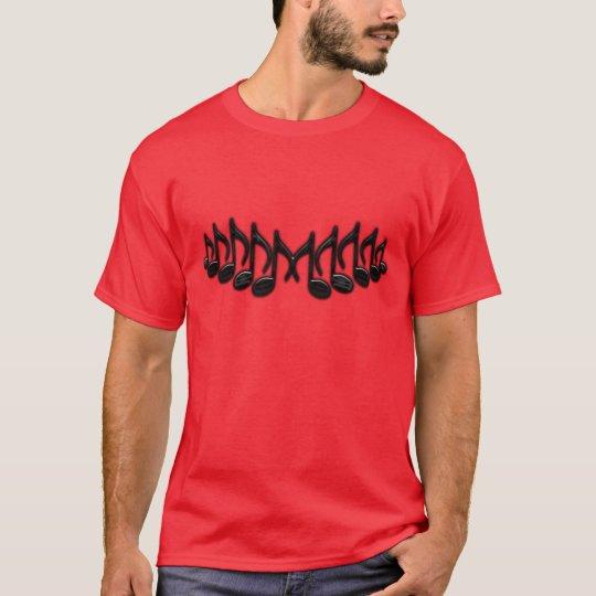 """Camiseta Letra musical """"M """""""