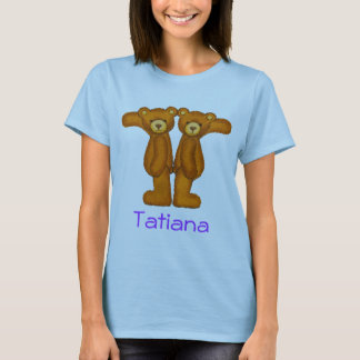 Camiseta Letra T Initial~Custom Name~Shirt del alfabeto del