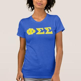 Camiseta Letras del amarillo de la sigma de la sigma de la