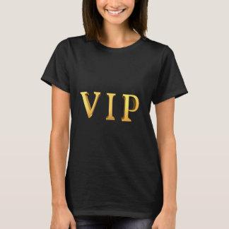 Camiseta Letras del oro del VIP con lema de la mirada 3D