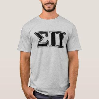 Camiseta Letras negras de la sigma pi