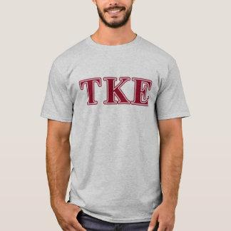 Camiseta Letras rojas épsilones del Tau Kappa