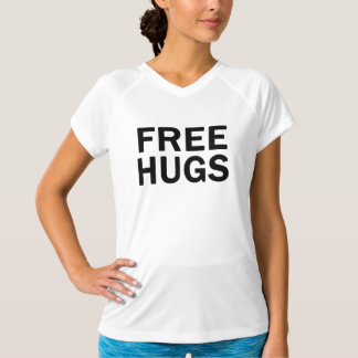 Camiseta Libere el cuello en v del funcionamiento de los