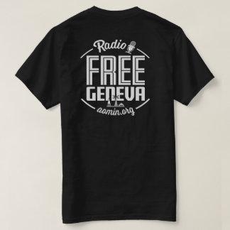 Camiseta libre de radio de Ginebra (negro)
