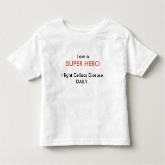 Camiseta libre del superhéroe del gluten