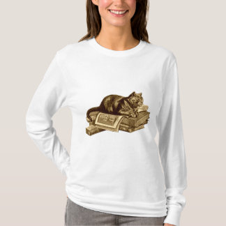Camiseta Libros de lectura del gato del gatito del ratón de