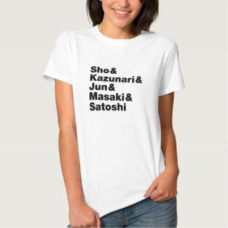 Camiseta ligera de los nombres japoneses