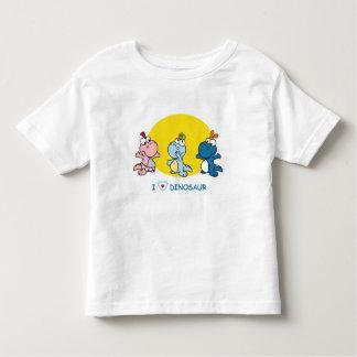 Camiseta linda de Dino para los niños