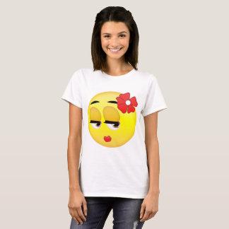 Camiseta linda de Emoji del chica