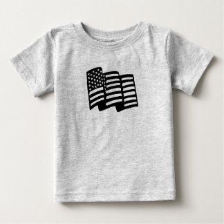 Camiseta linda de la bandera americana para los