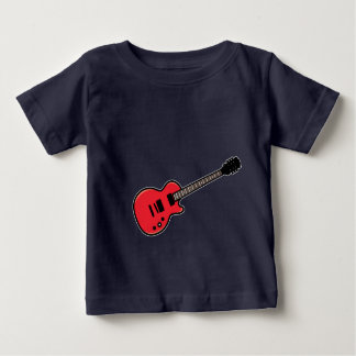 Camiseta linda de la guitarra para los niños del