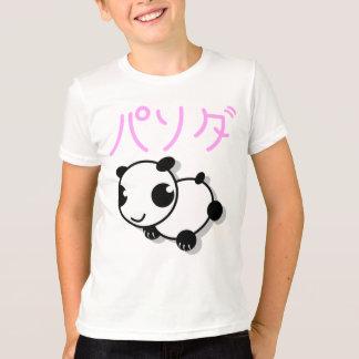 camiseta linda de la panda del estilo del animado