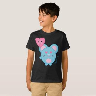 Camiseta linda de los niños de la sonrisa rosada