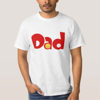 Camiseta linda de los pares de la familia del papá