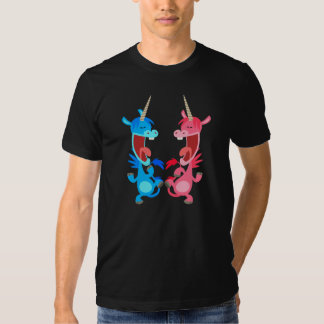 Camiseta linda de los unicornios del baile del