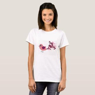 Camiseta linda del arte gráfico del pájaro