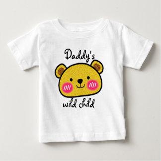 Camiseta linda del bebé del leopardo salvaje del