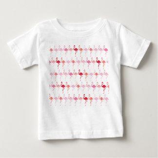 Camiseta linda del bebé del modelo del flamenco