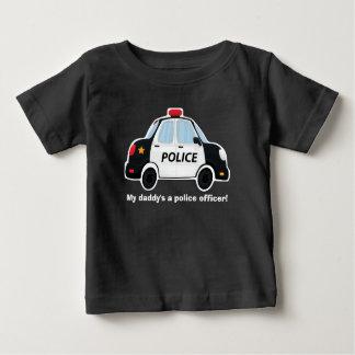 Camiseta linda del coche policía - bebé - niños
