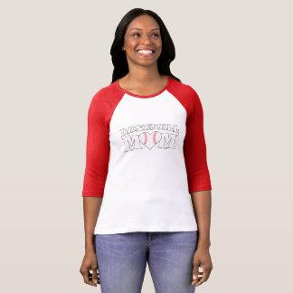 Camiseta linda del estadio de béisbol del corazón