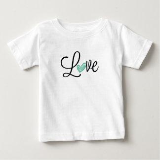Camiseta linda del jersey del bebé del amor