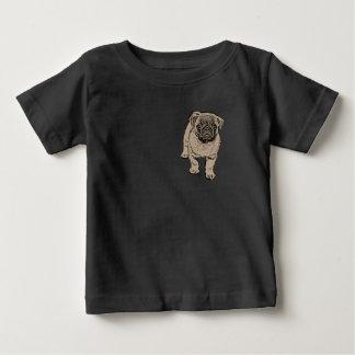 Camiseta linda del jersey del bebé del barro