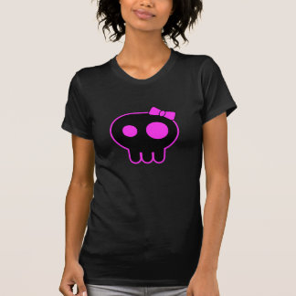 Camiseta linda del negro del cráneo