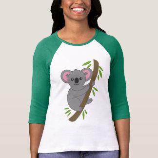 Camiseta linda del oso de koala del dibujo animado