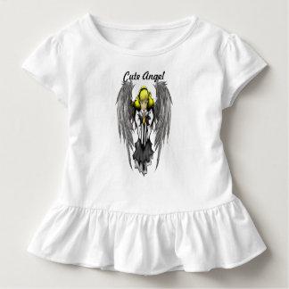 Camiseta linda del volante del niño del ángel