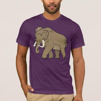 Camiseta linda grande del mamut lanoso del dibujo
