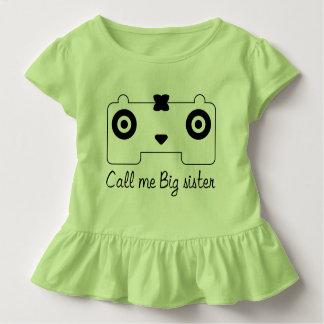 Camiseta linda HQH del volante del niño del chica
