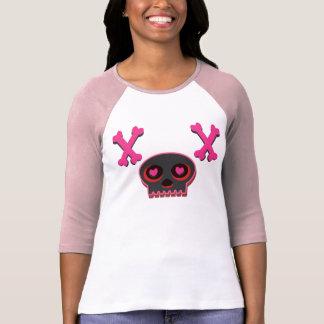 Camiseta linda observada corazón del cráneo