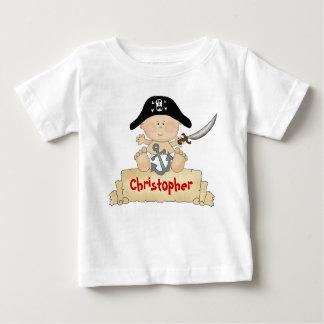 Camiseta linda personalizada del pirata del bebé