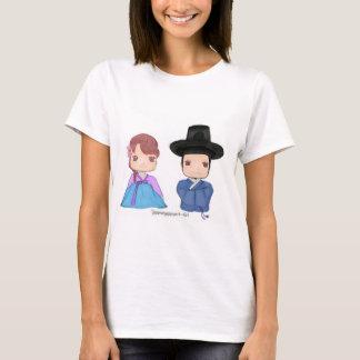 Camiseta ♥ lindo de los pares de Hanbok