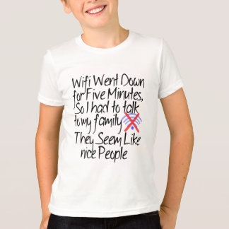 Camiseta lindo ningún del wifi diseño divertido de la