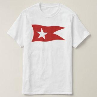 Camiseta Línea blanca titánica bandera de la estrella con