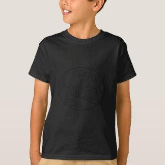 Camiseta Línea del martillo del carpintero del vintage mono