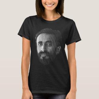 Camiseta Línea retrato de Haile Selassie Digital del